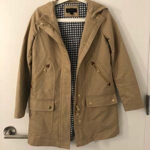 JCREW canvas trench coat